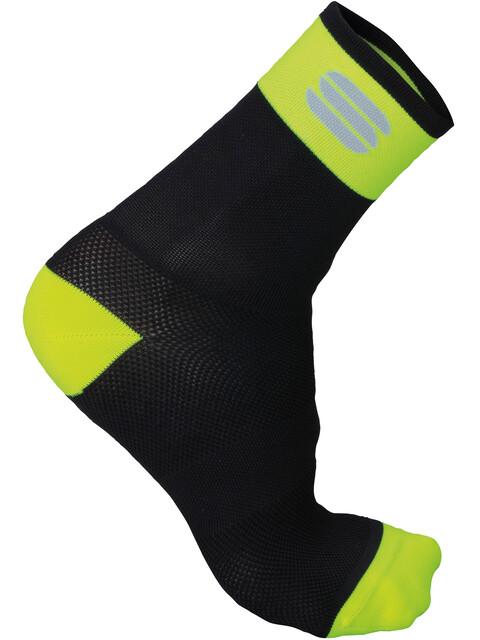 Sportful Bodyfit Pro 12 Socks Men Black/Yellow Fluo